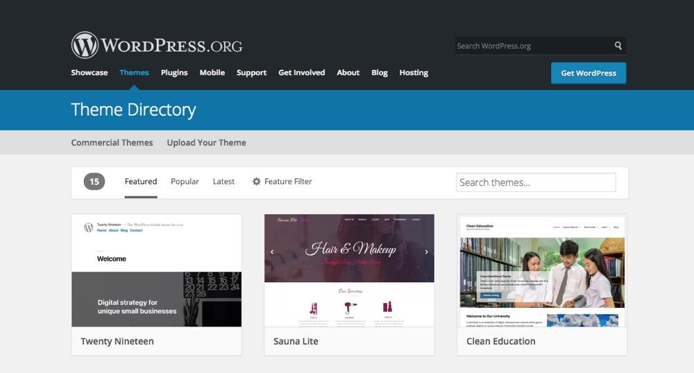 WordPress.org主题目录