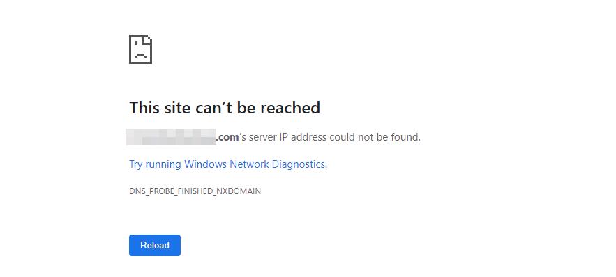 Chrome中的DNS_PROBE_FINISHED_NXDOMAIN错误。
