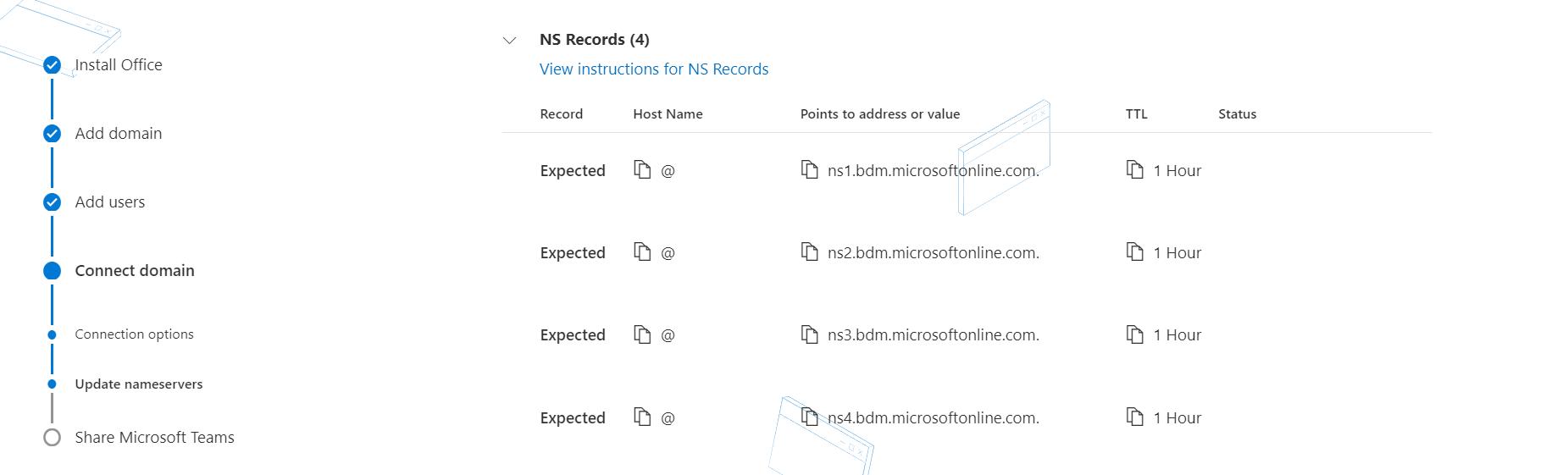 添加名称服务器记录。
