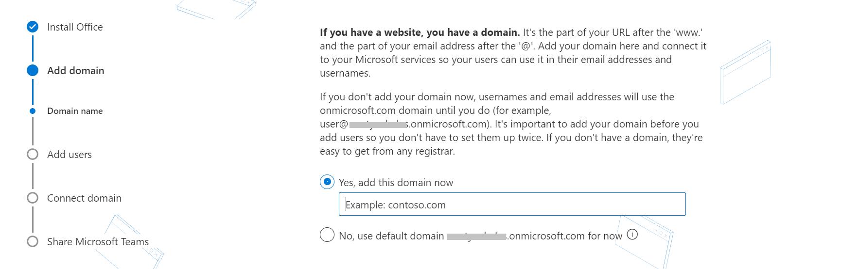 通过将域添加到Office 365来设置自定义电子邮件地址。