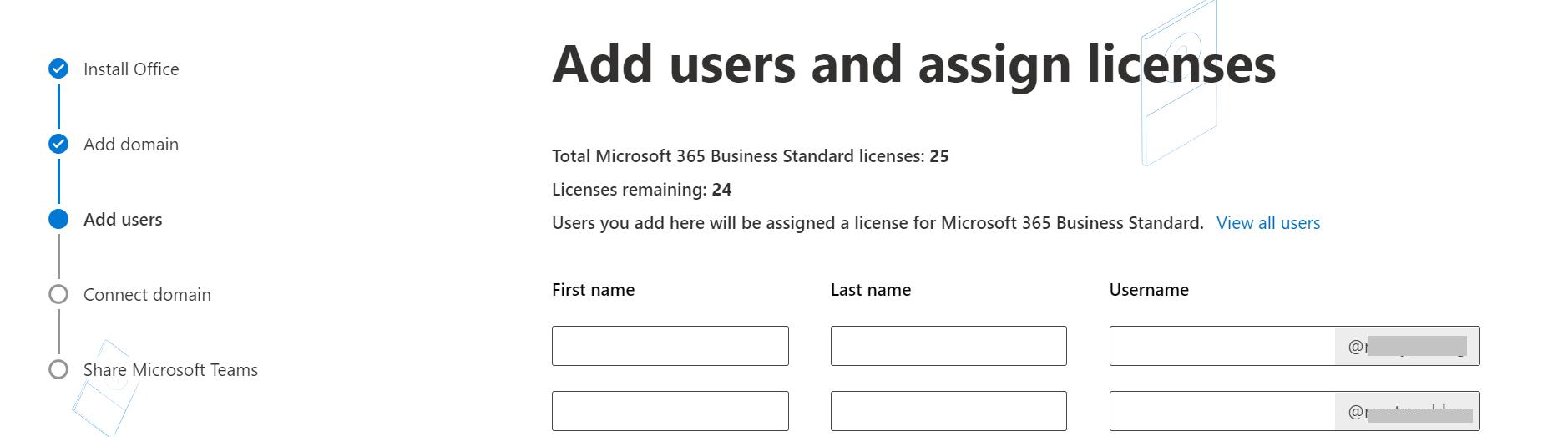 将用户添加到Office 365中的自定义品牌电子邮件地址。