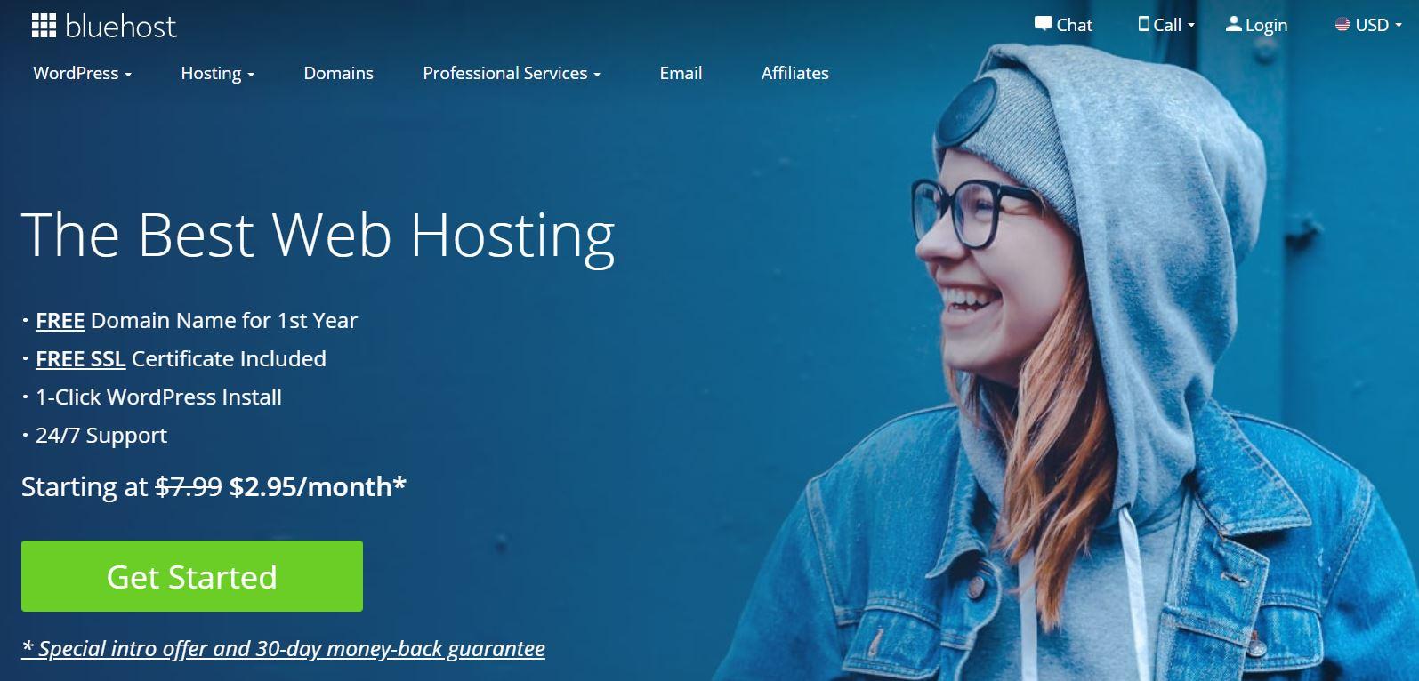 GoDaddy最受欢迎的替代产品之一是Bluehost。