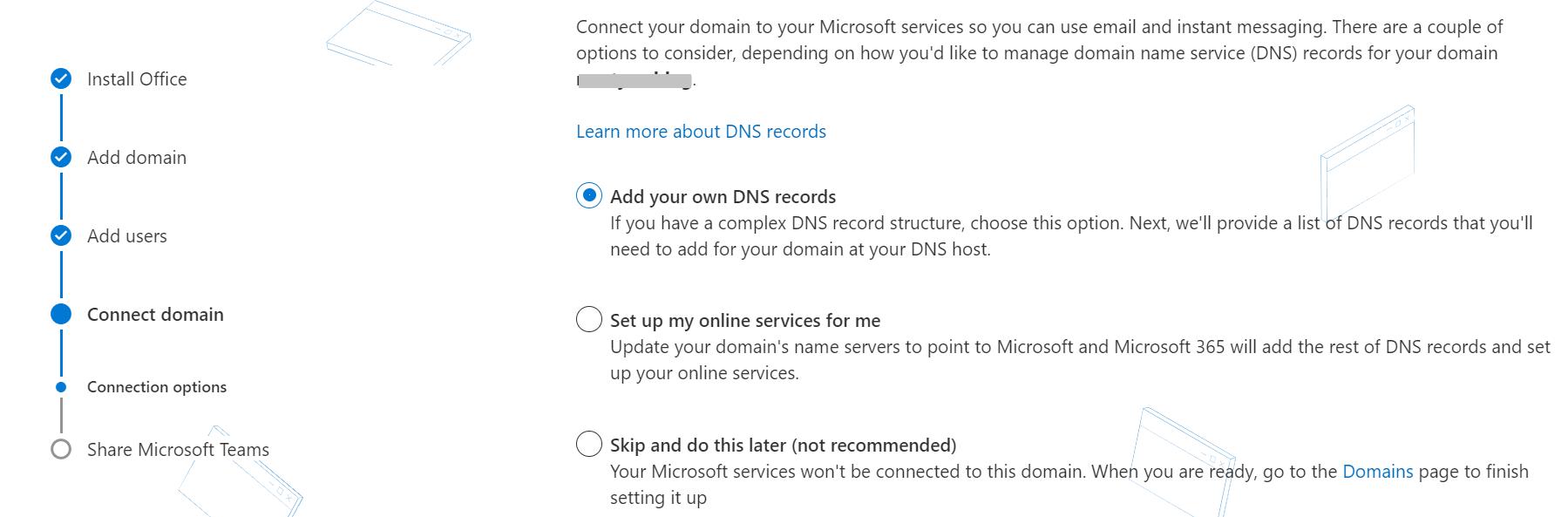 使用Office 365设置在线服务。