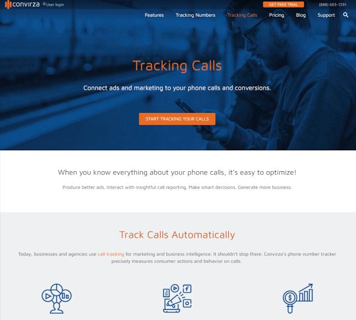 最佳呼叫跟踪软件:Convirza