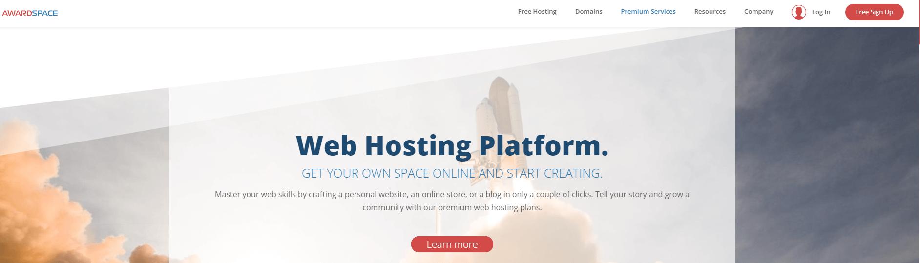 AwardSpace虚拟主机平台。