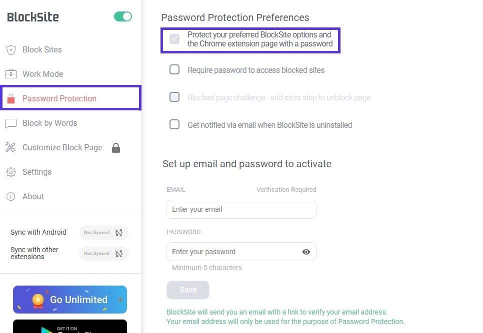 封锁网站密码保护
