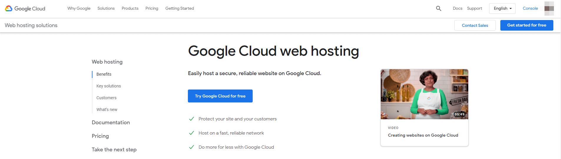 Google Cloud虚拟主机。