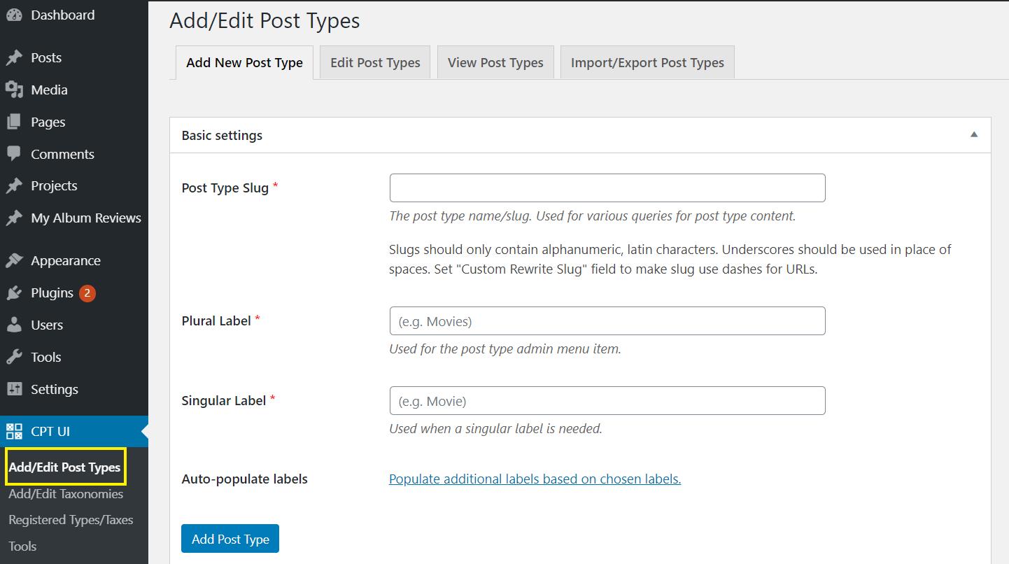 如何创建WordPress自定义帖子类型1如何创建WordPress自定义帖子类型