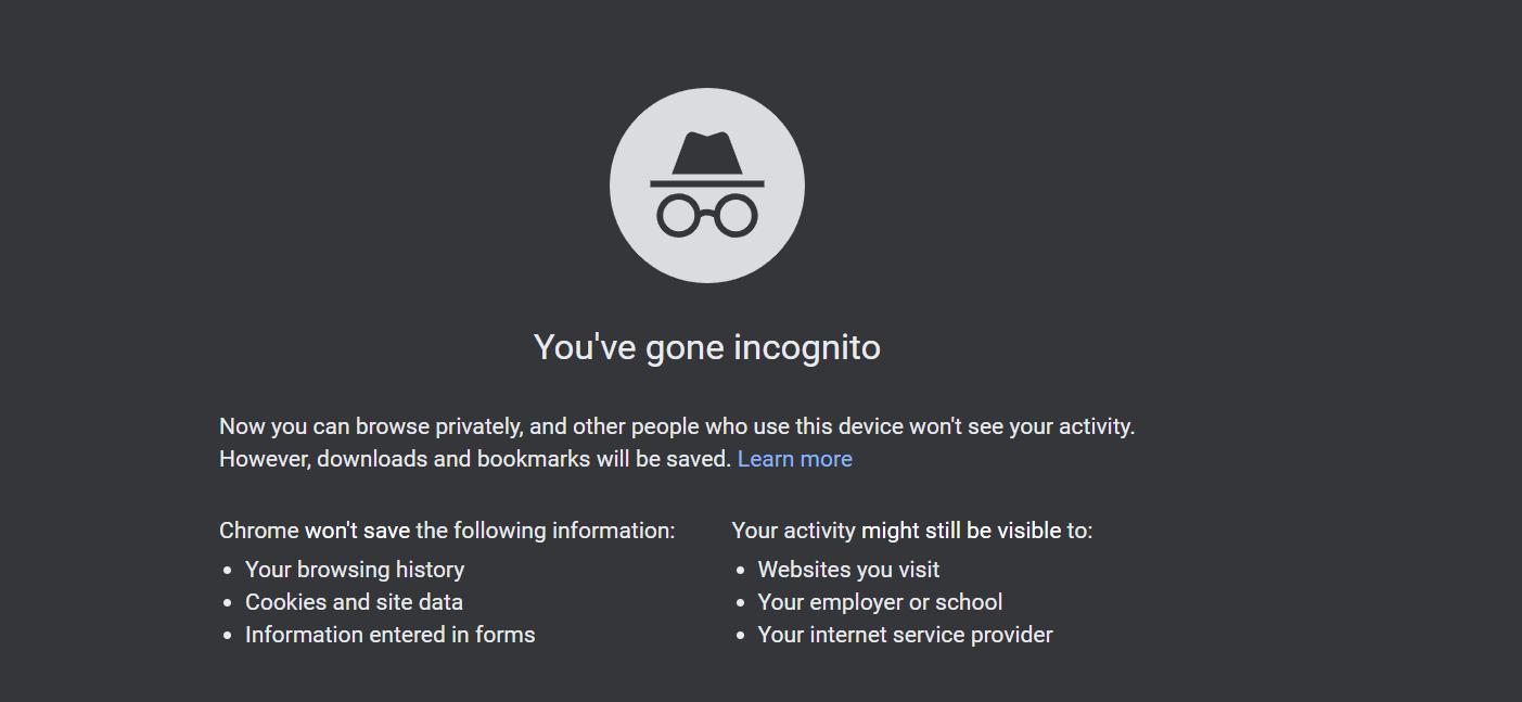 Chrome的隐身模式可阻止应用跟踪您