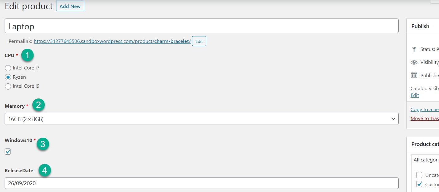 查看自定义字段WooCommerce