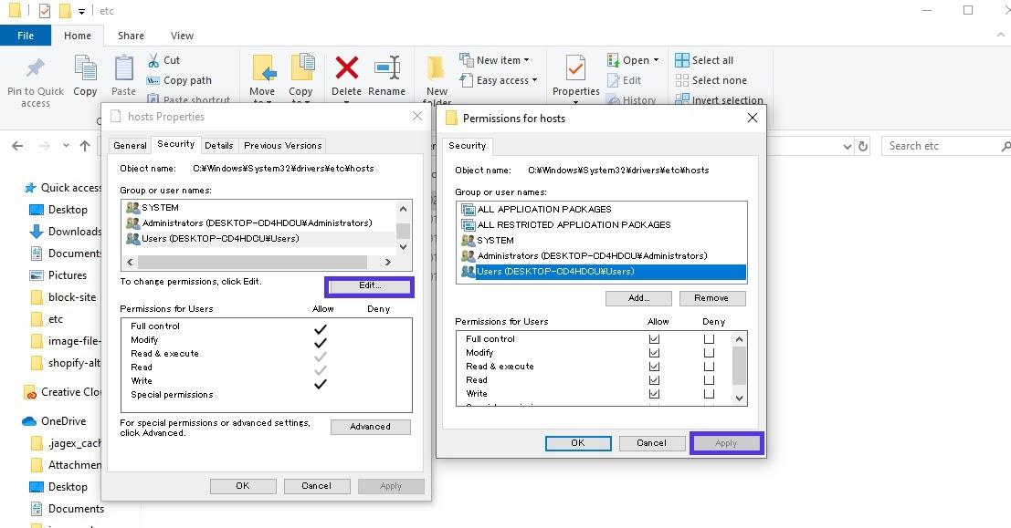 Windows主机文件权限