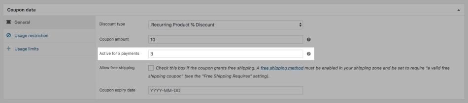 WooCommerce订阅中的订阅代码
