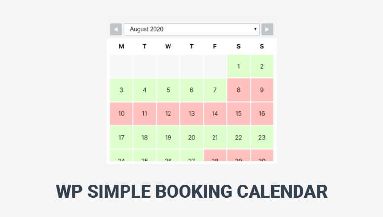 WP简单预订日历