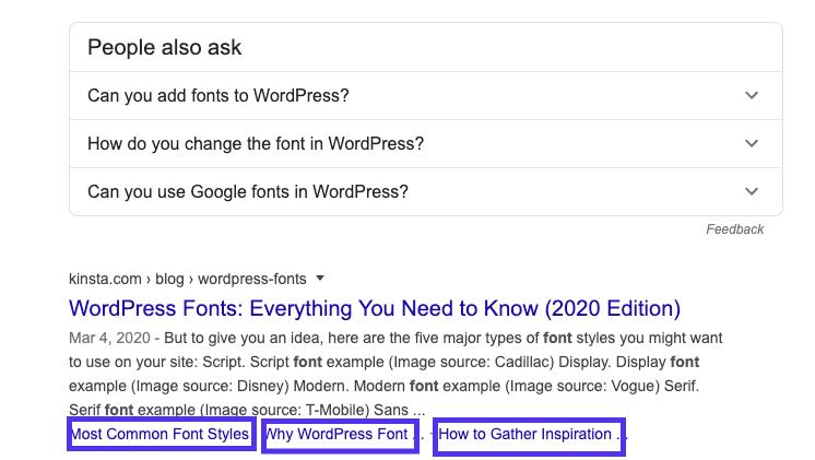 WordPress SEO:Google SERP中的锚链接