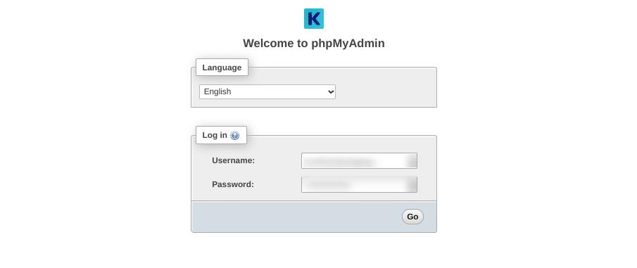 kinsta phpMyAdmin登录