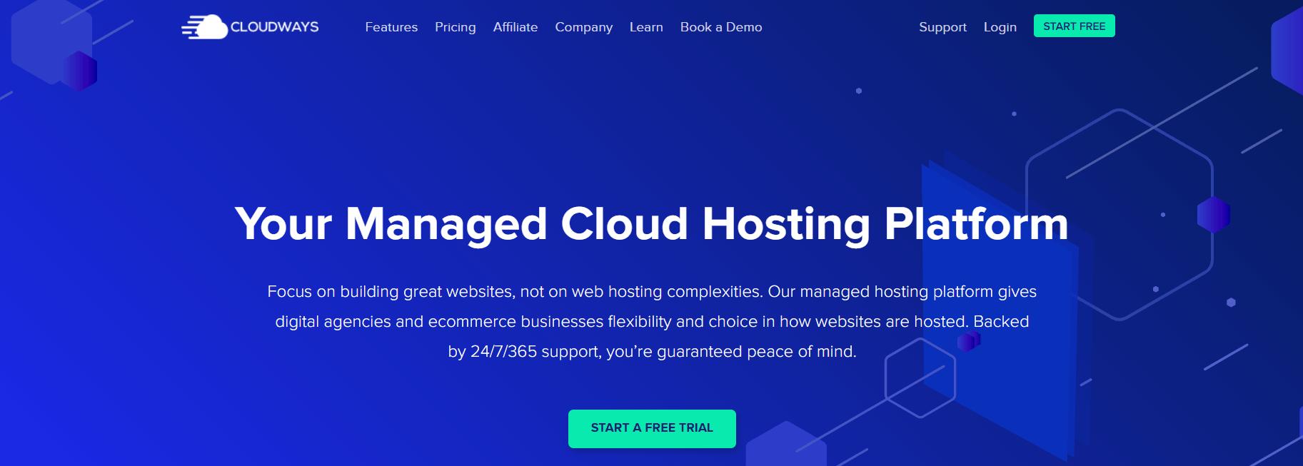 Cloudways主页。