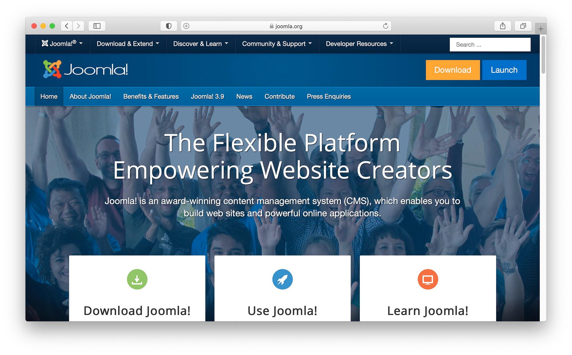 最佳WordPress替代方案#3:Joomla