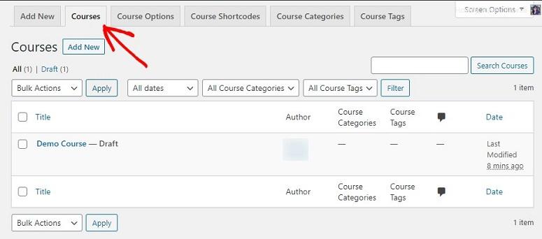 LearnDash课程生成器选项