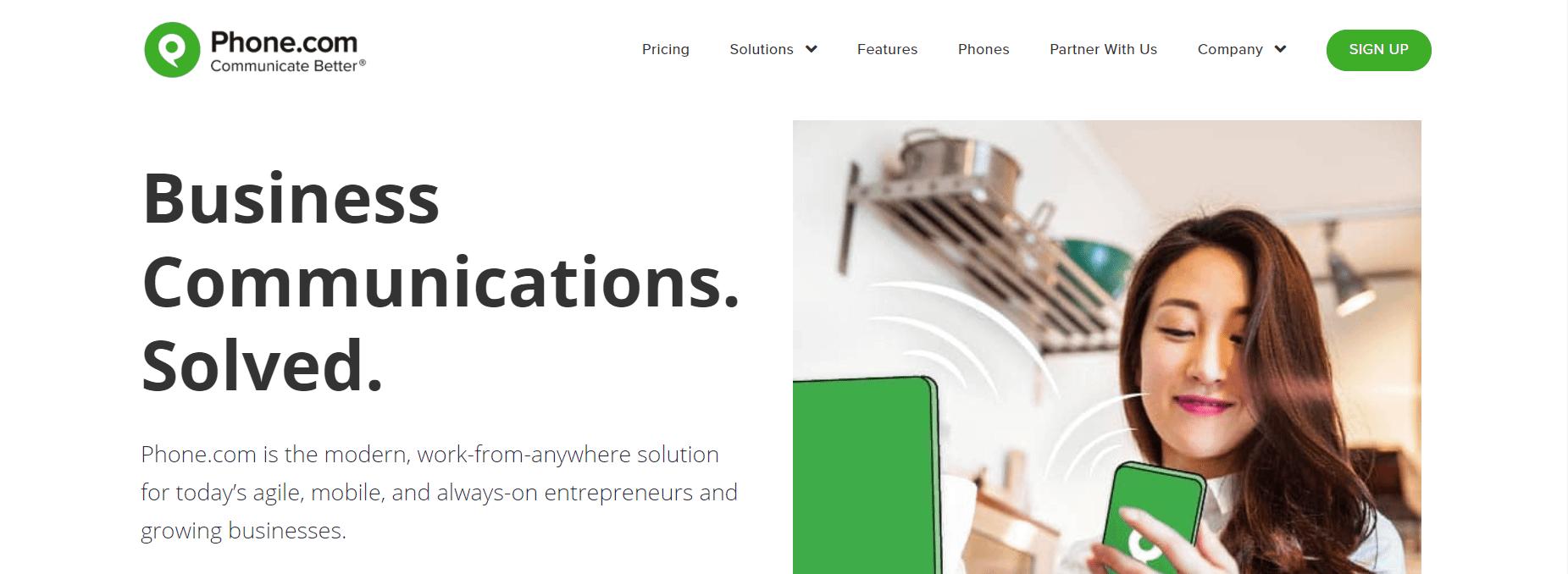 Phone.com主页。