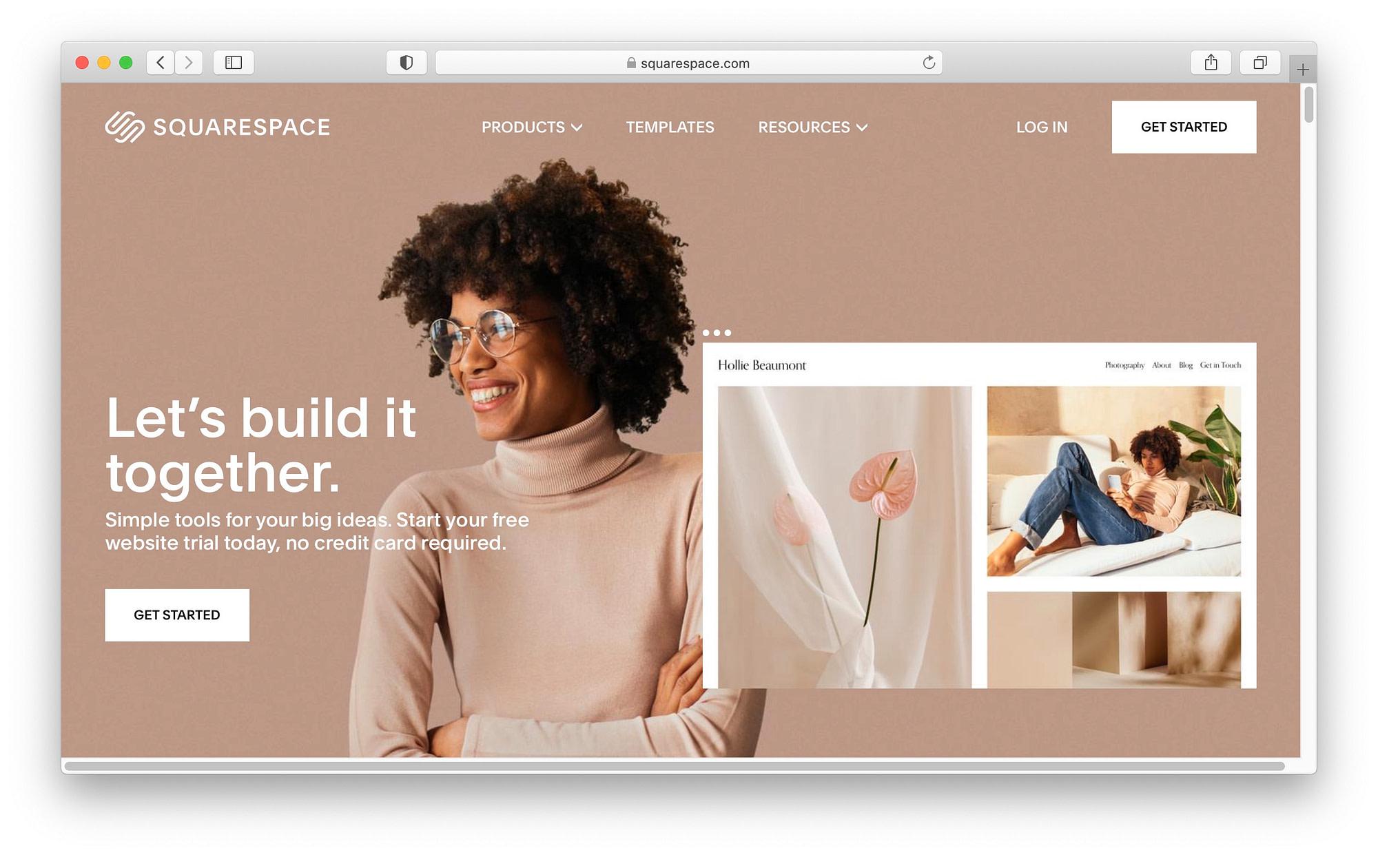 最佳WordPress替代方案#2:Squarespace