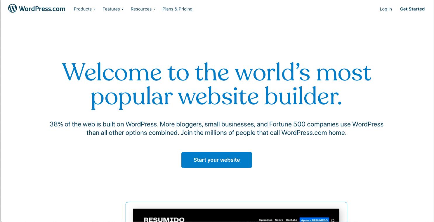 WordPress.com主页