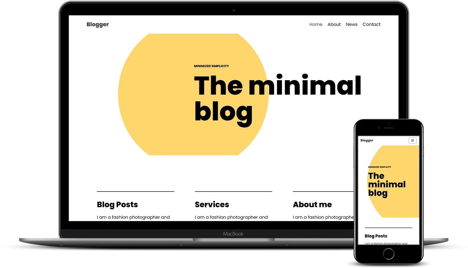 免费和高级Elementor模板-Neve Blogger模板