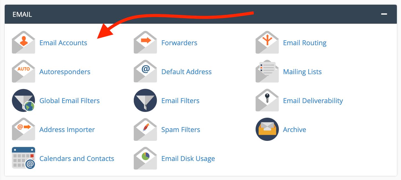 cpanel电子邮件帐户