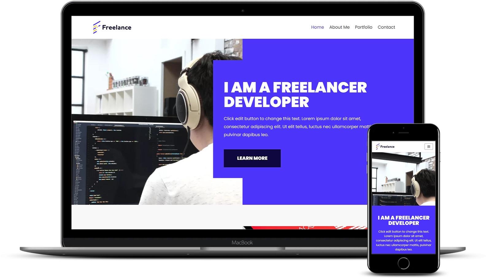 Freelancer WordPress模板