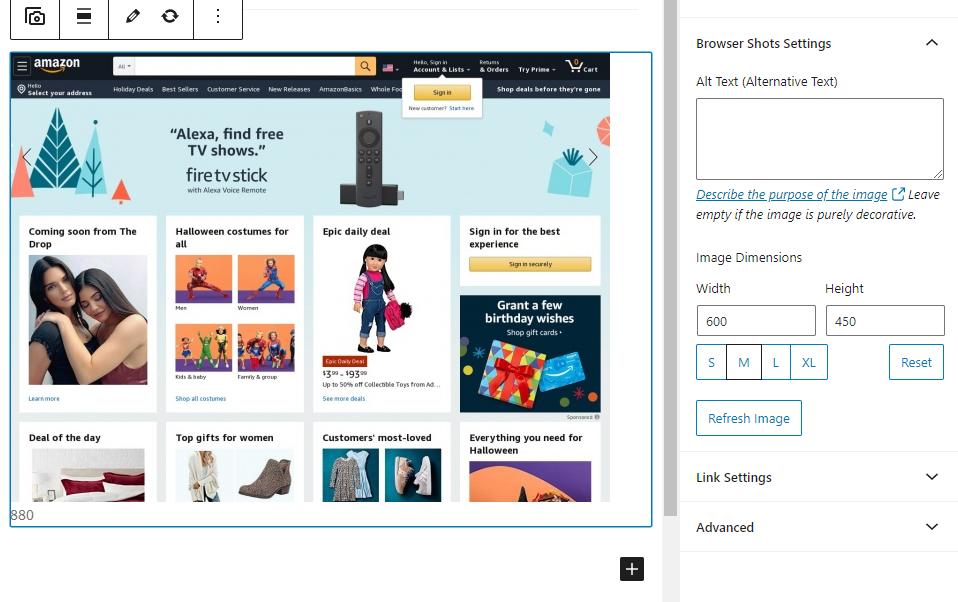 如何自动获取浏览器的屏幕截图并在WordPress中显示它们4如何自动在WordPress中获取浏览器屏幕截图并显示它们
