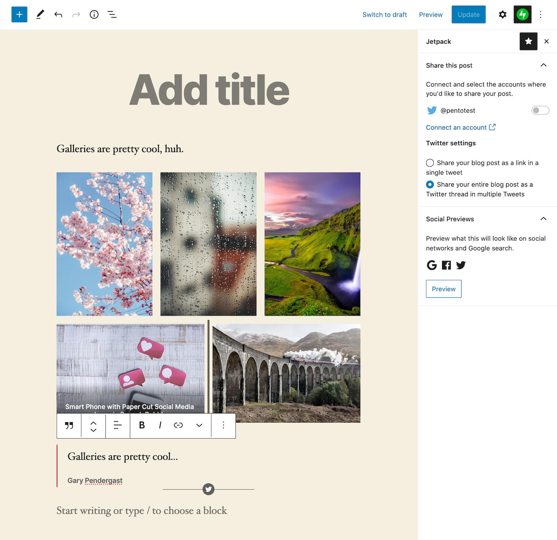 jetpack-9-0引入了新功能,用于将WordPress帖子发布为线程线程Jetpack 9.0引入了将WordPress帖子作为线程发布到Twitter的新功能