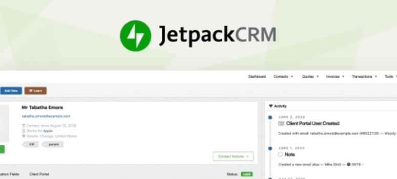 Jetpack CRM插件