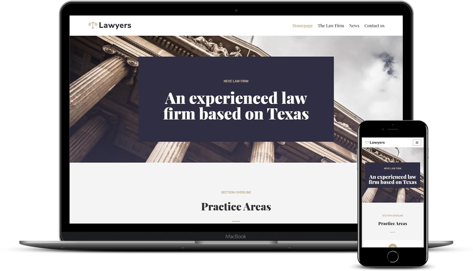 Neve的律师免费模板