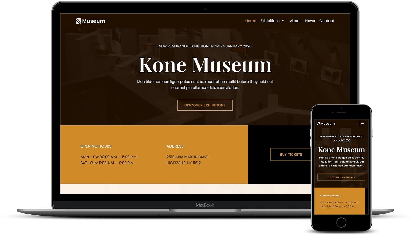 Premium Elementor模板-Neve博物馆模板