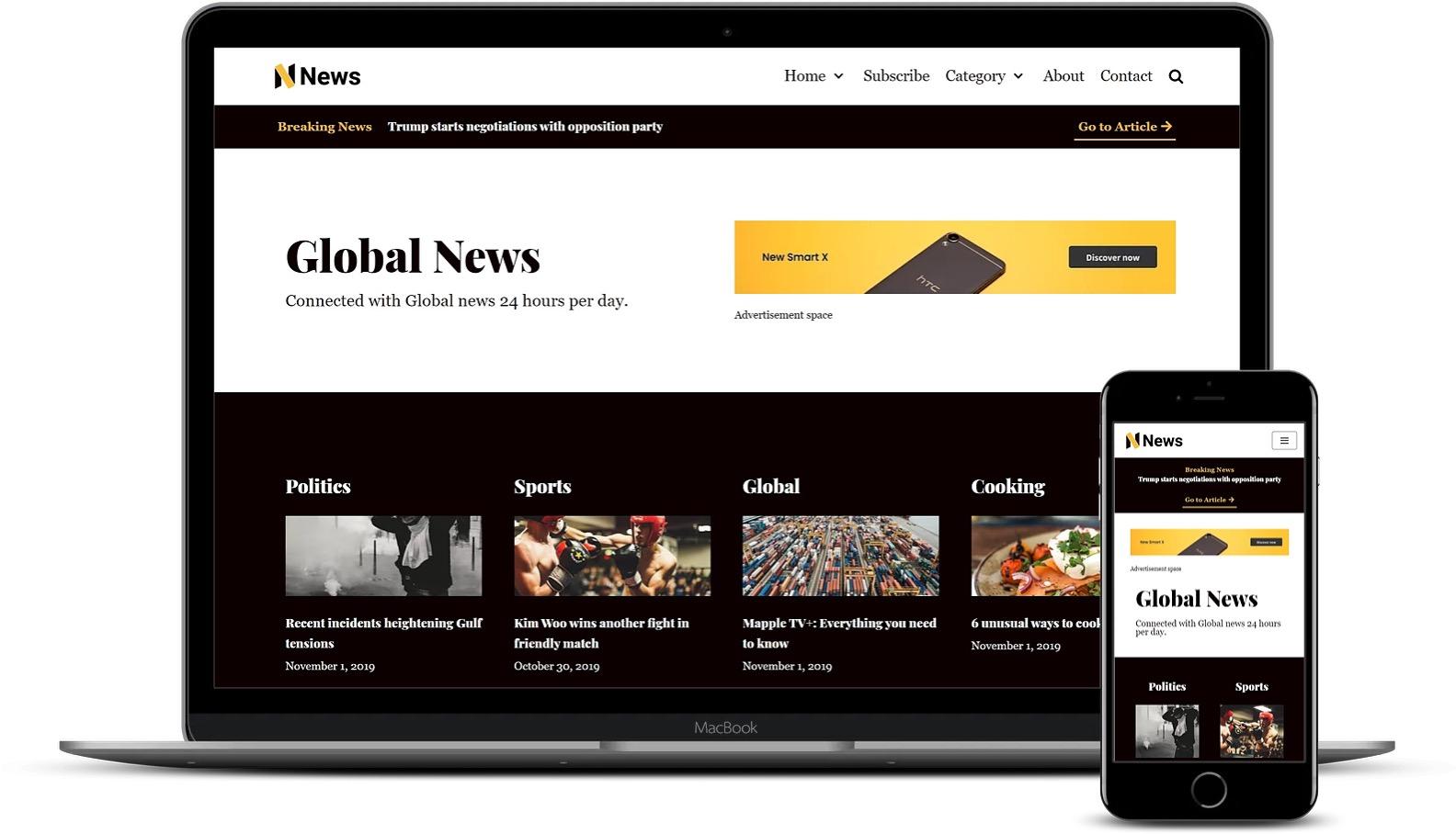 高级Elementor模板-Neve新闻杂志模板