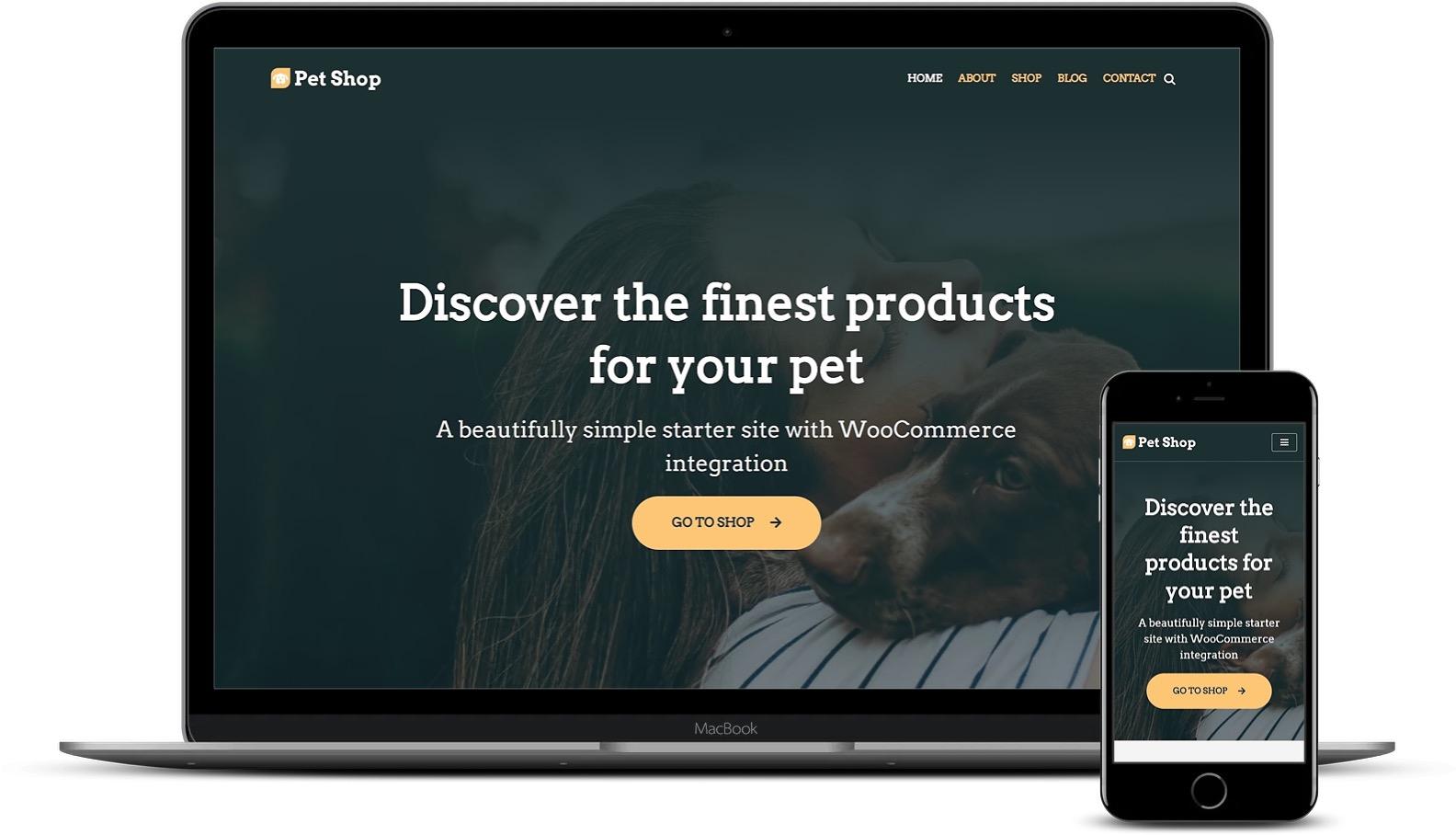WordPress网站的宠物店模板