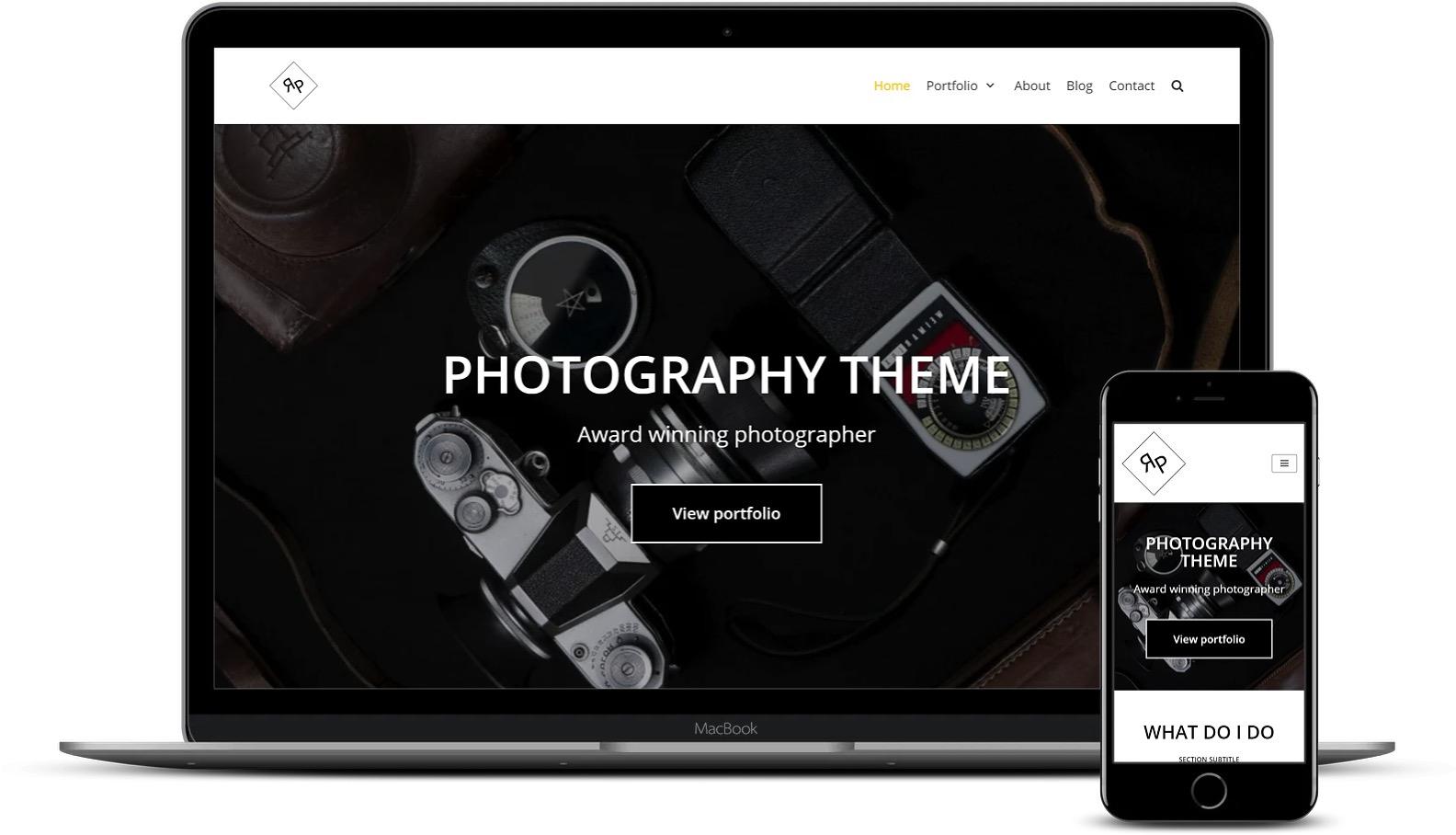 免费和高级Elementor模板-Neve Photography模板