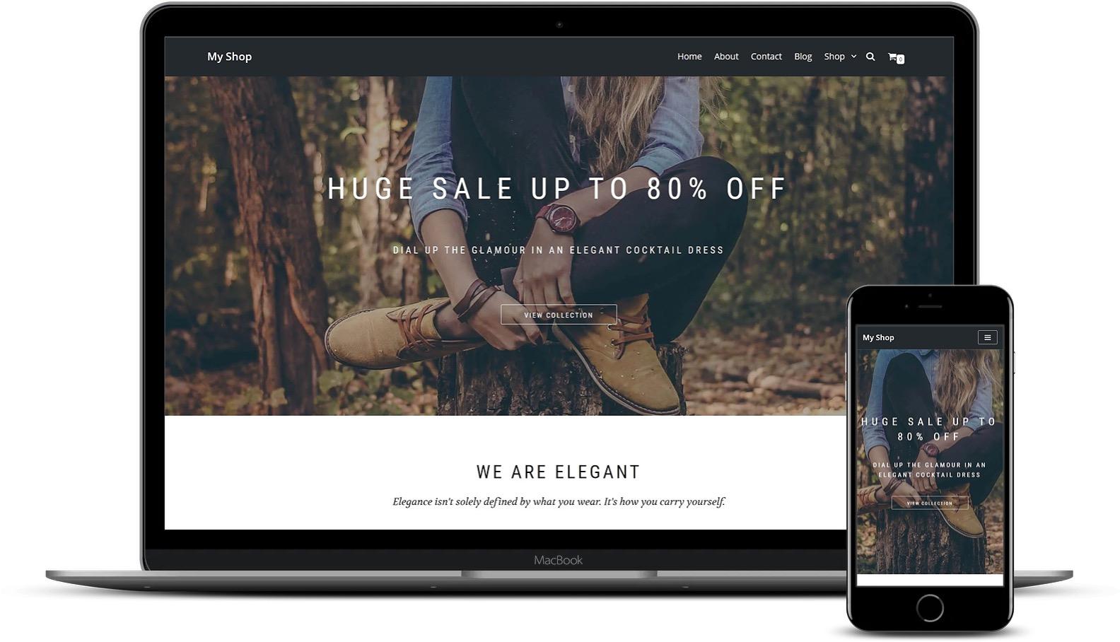 免费和高级Elementor模板-Neve Shop模板