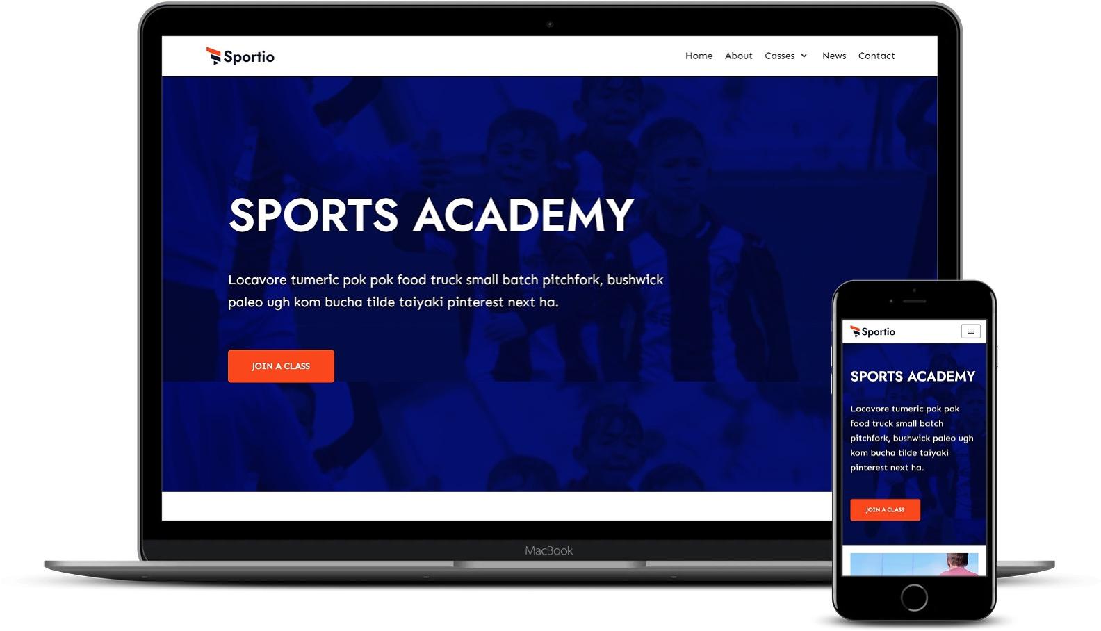 体育学院WordPress模板