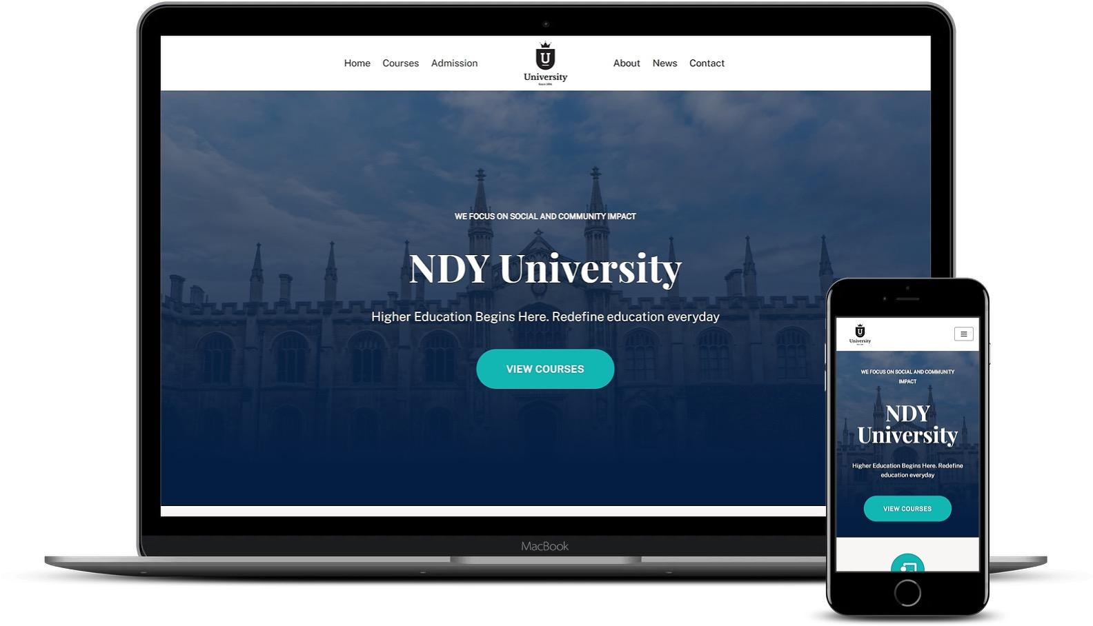 Premium Elementor模板-Neve University模板