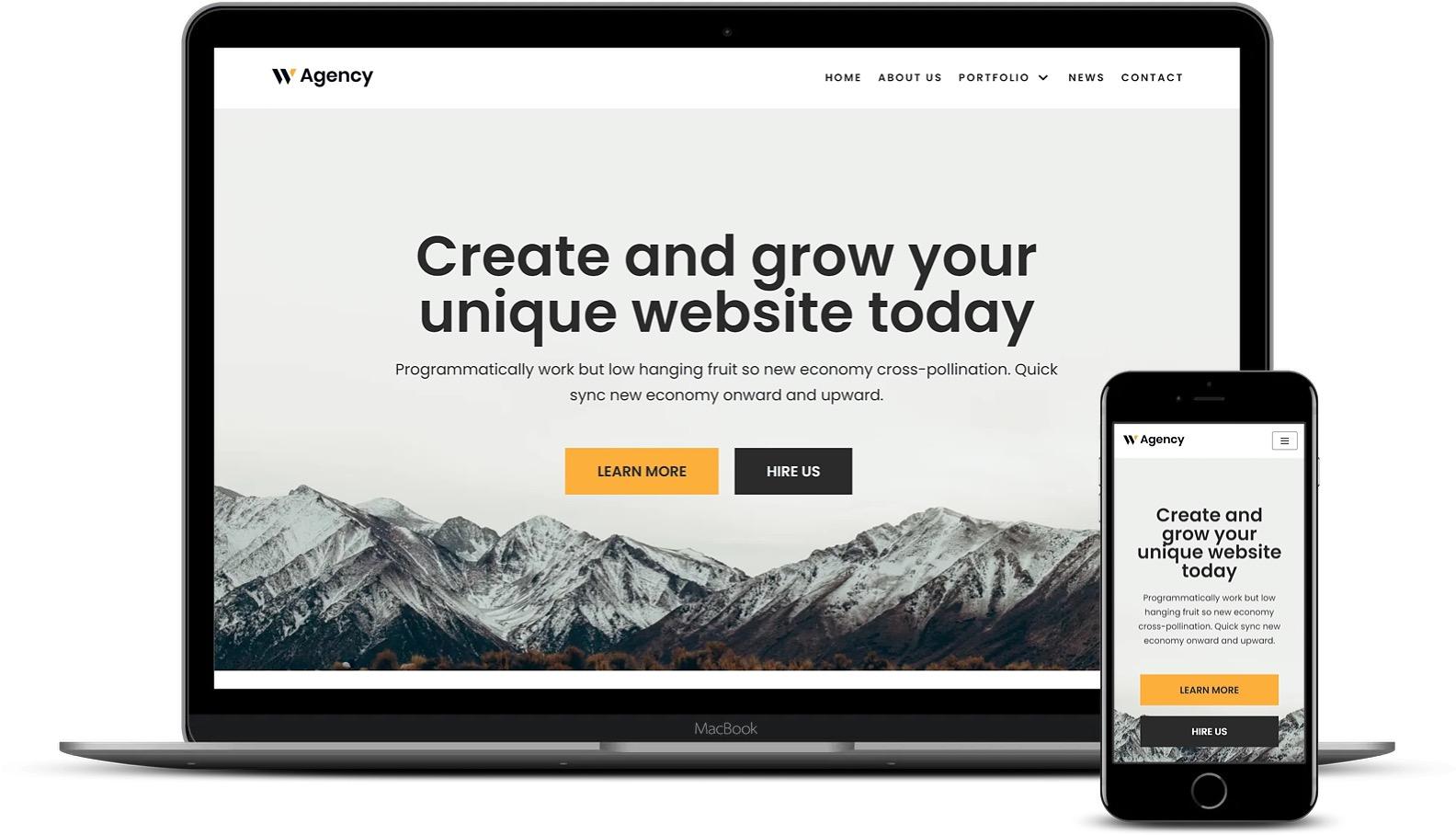 免费和高级Elementor模板-Neve Web Agency模板