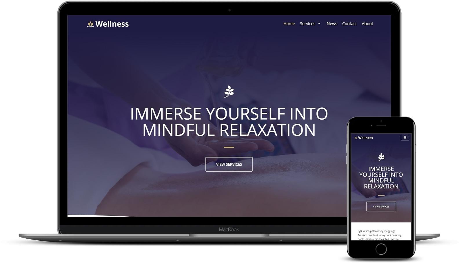 健康和水疗WordPress模板
