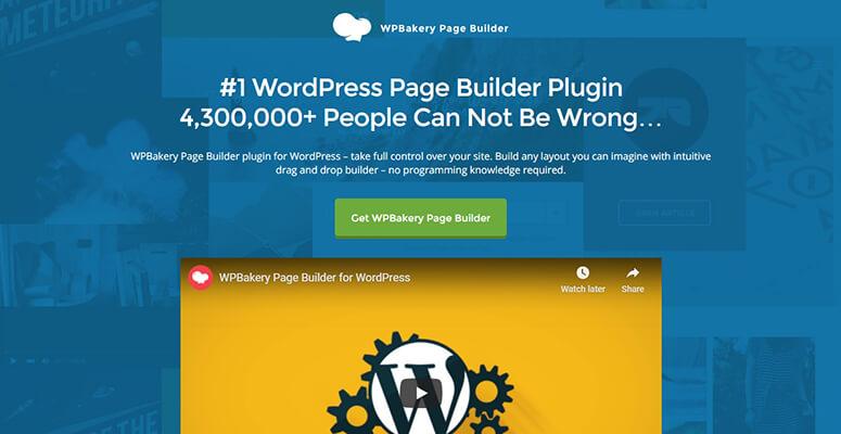 用于WordPress的WPBakery页面生成器