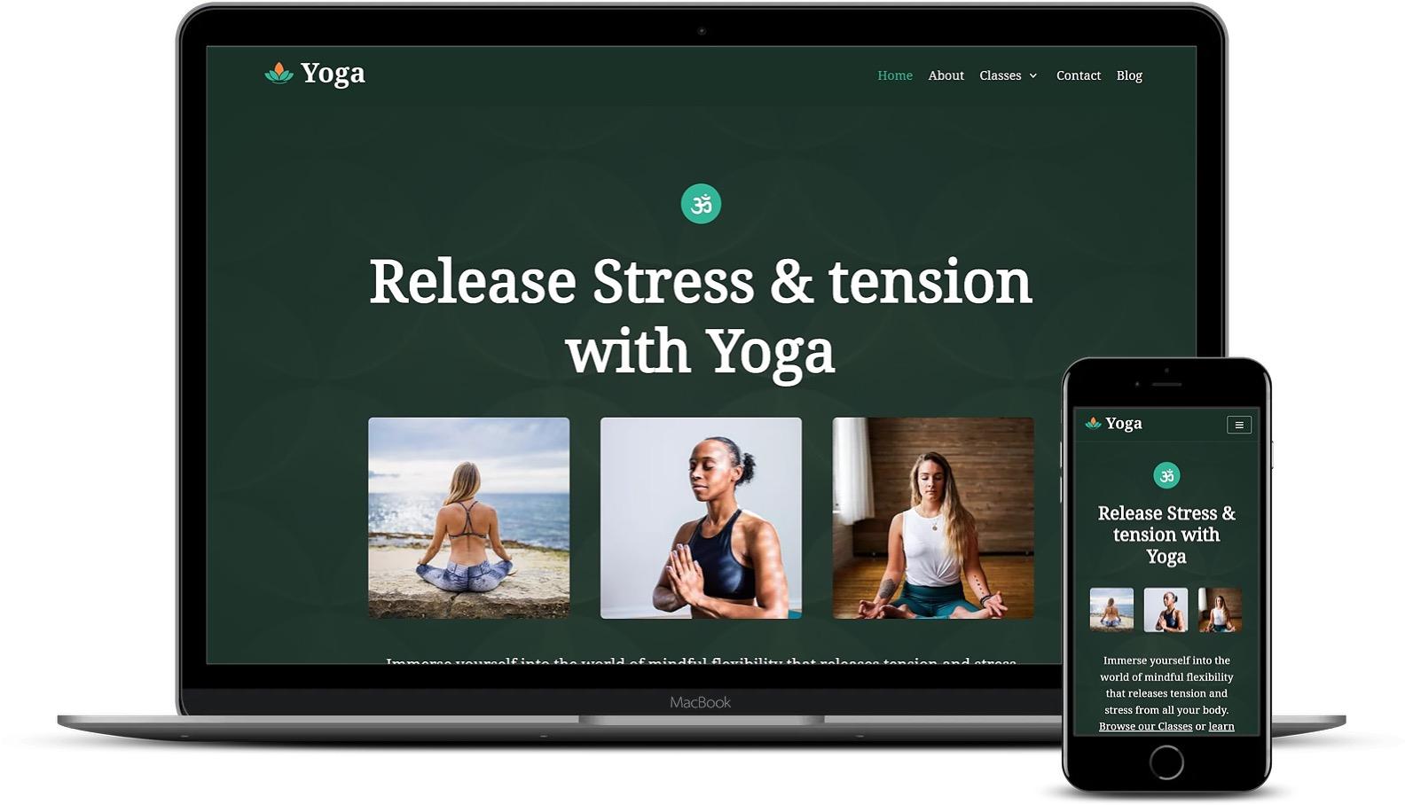 瑜伽WordPress模板