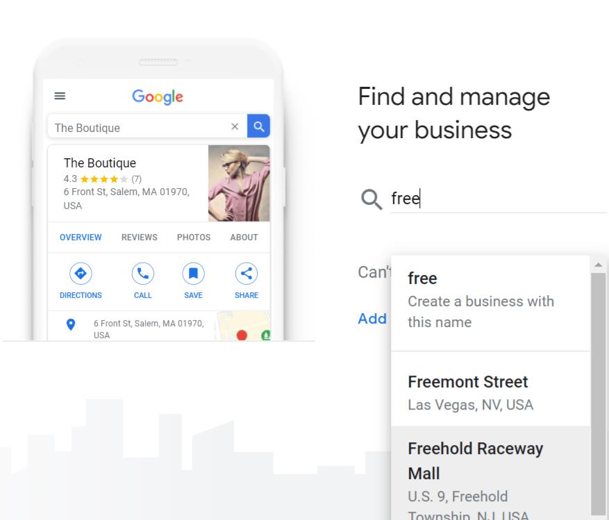 Google页面上的图形以声明您的GMB列表