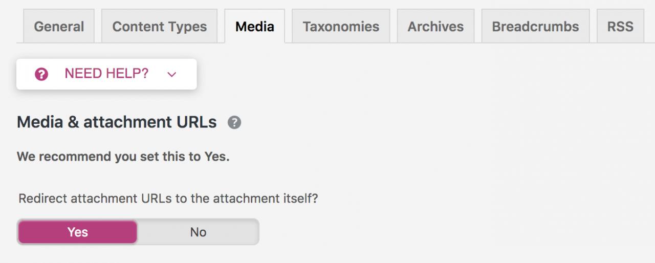 "Yoast SEO 7.0错误,媒体和附件URL设置为""是"""