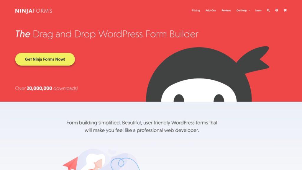 Ninja Forms WordPress插件添加表单