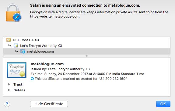 让我们加密SSL证书的其他信息