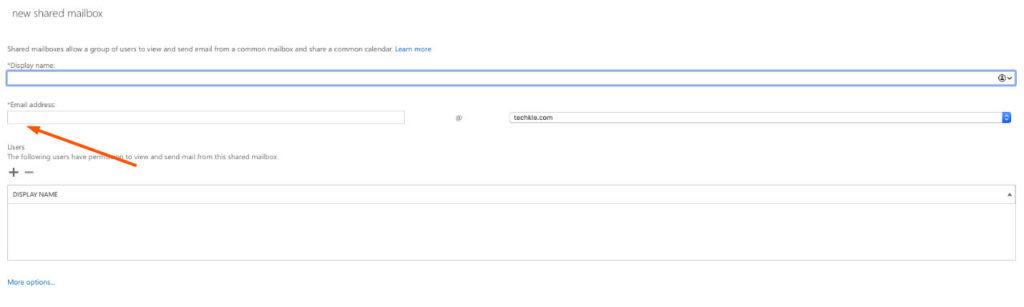 为Microsoft 365帐户创建新的共享邮箱