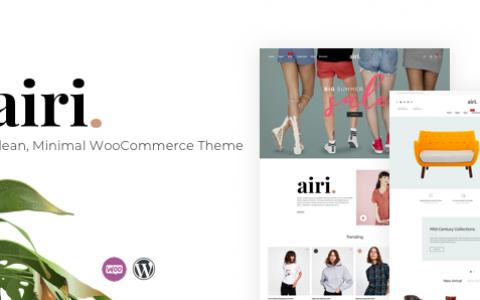 Airi v1.1.9 –干净,最小的WooCommerce主题