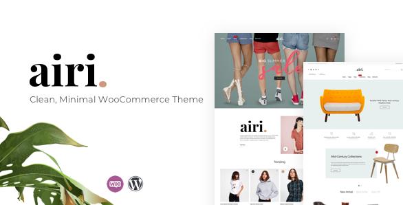 Airi v1.1.9-干净,最小的WooCommerce主题
